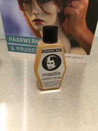 Mastix spirit gum , vloeibare lijm voor haarwerken en pruiken.
