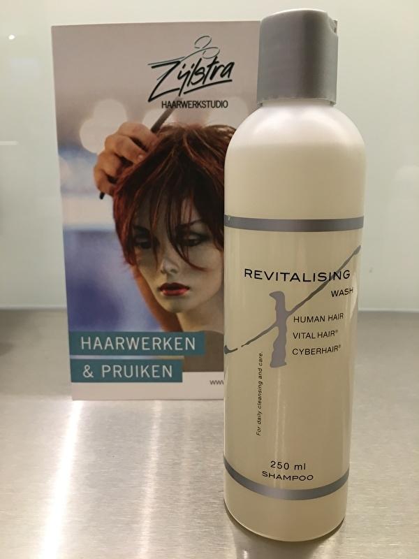 Cyberhair en Vital hair shampoo, Revitalising wash, ook voor Echt haar haarwerken.