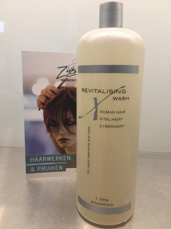 Cyberhair en Vital hair shampoo, Revitalising wash, ook voor Echt haar haarwerken - 1 Liter.