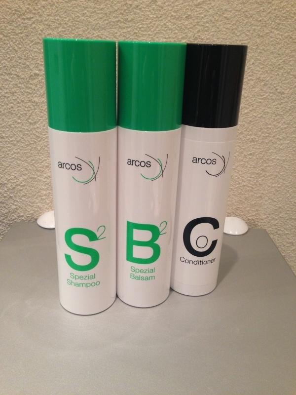 Arcos verzorgingsset voor haarwerk / pruik , ECHT haar ( 3 x 200 ml).