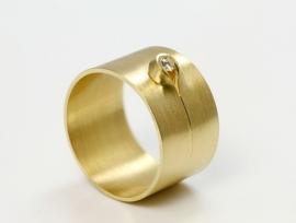 Cardillac ring met lus en diamant
