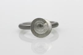 Swivel ring Petit Fours melange zilver