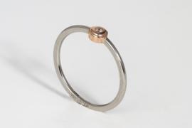 PUR platina ring met rosegoud