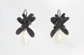 Echo Deco bloem oorbellen ( wit )
