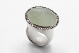Cleopatra ring met chrysoberyl en zwarte diamanten