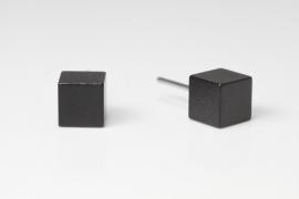 Blok oorknopjes groot (zwart)