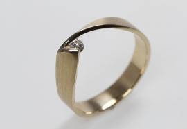 Vincent van Hees geelgouden ring Y2k2