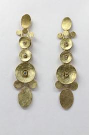Maier en Beck gouden pringle oorbellen