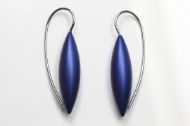 Apero Tulp oorbellen klein (marineblauw)