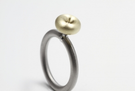 Swivel ring Piccolo geelgoud