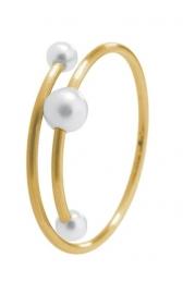 Schmuck werk gouden ring met parels