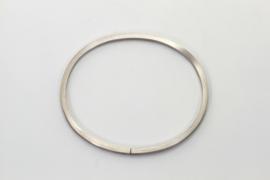 Witgouden slaven armband