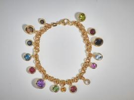 Armband goud met stenen