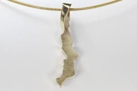 Cardillac hanger van goud ' face to face'