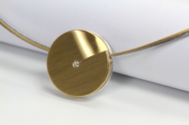 Manu Schmuck Anhänger met Silber mit Gold