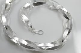 Maier en Beck zilveren schakel collier