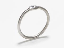 Dripping art ring van platina ( mini )