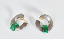 Meister titanium oorbellen
