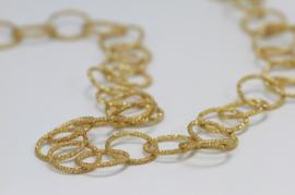 Tezer gouden ringen ketting