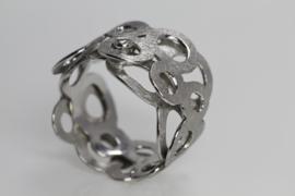 Maier en Beck witgouden ring met losse ringen