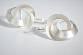 Deco Echo  zilveren krul hangers