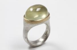 Cleopatra ring met lemonkwarts