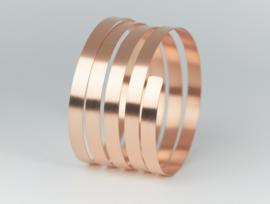 Ruwinzki zilveren rose vergulde spiraal armband