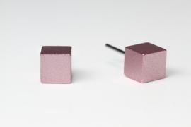 Blok oorknopjes groot (oud roze)