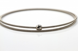 Niessing Colette armband witgoud dubbel