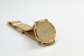EMKA goudkleurig horloge (mat/glans)