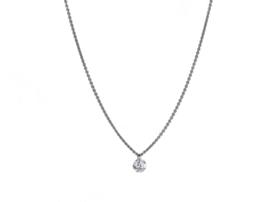 Diamanten hanger met witgoud