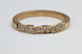 Rosegouden tors ring