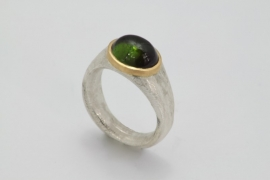 Cleopatra ring met toermalijn ( klein )