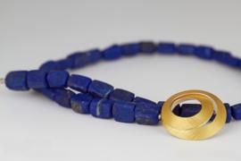 Manu schmuck ketting met Lapis Lazuli