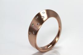 Cardillac Ring mit Diamanten in Rotgold