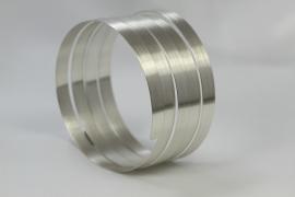 Ruwinzki spiraalarmband mat zilver