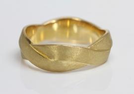 Maier en Beck gouden vlecht ring
