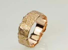 Boomschors ring roodgoud ( heren model )