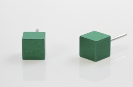 Blok oorknopje groot ( groen)