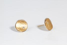 Manu oorbellen ronde knopjes ( dubbel )