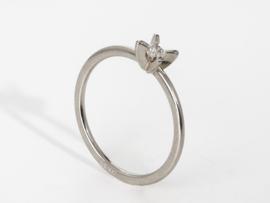 PUR solitair ring platina ( middel )