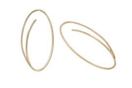 Niessing Linear ( klein ) gouden oorbellen