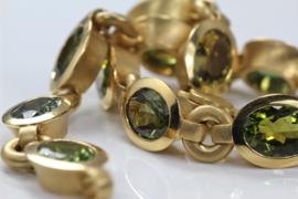 Toermalijn gouden armband