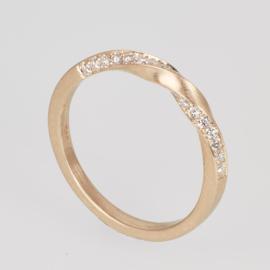 Tors ring met 1 baan diamanten