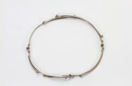 Medusa witgouden armband