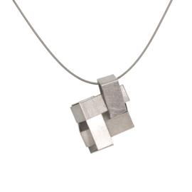 Niessing Cube hanger van platina
