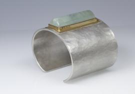 Cleopatra armband met aquamarijn