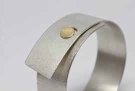 Manu armband zilver met goud
