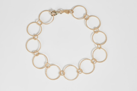 Tezer gouden schakel armband
