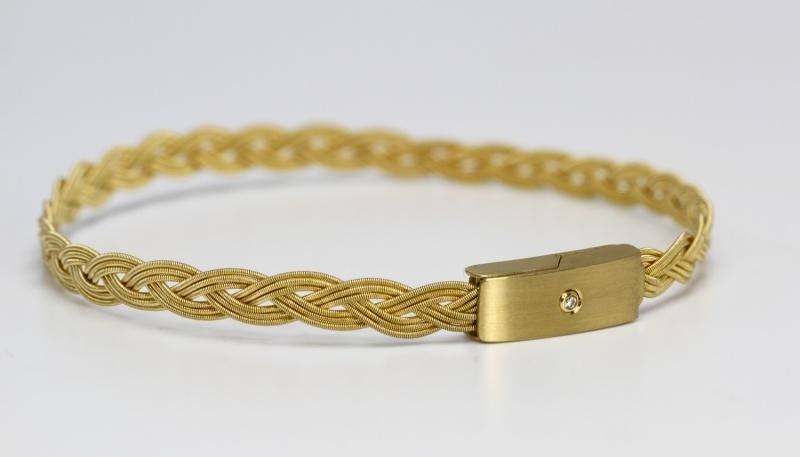 Kubik vlecht armband goud